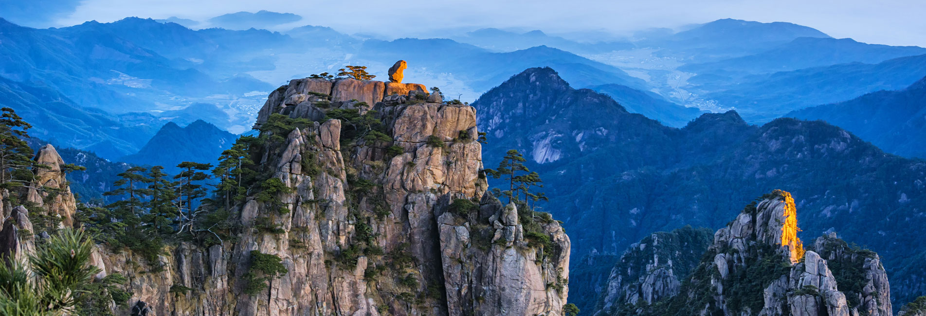 the landscape of the Yellow Mountains, Huangshan