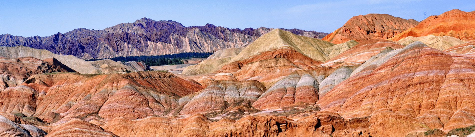 Rainbow Mountains in Zhangye