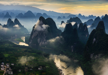 Guilin landscape, Guilin mountains and river