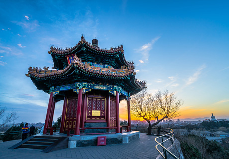 the ancient building in Beijing, Jingshan Park