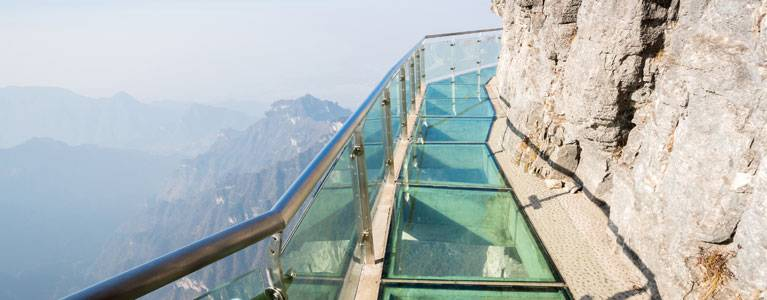 The Glass Walkway at Tianmen Mountain