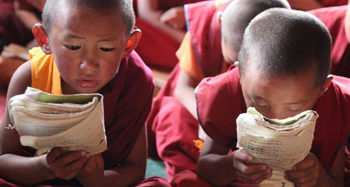 Tibetan Little Monks