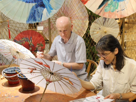 Chinese Oiled-paper Umbrella Painting