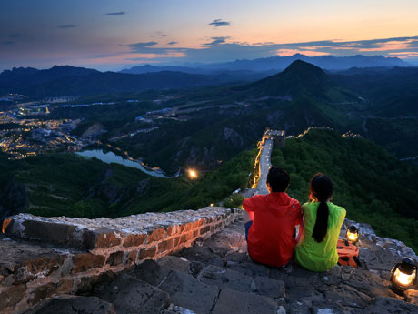 The Night View of the Simatai Great Wall