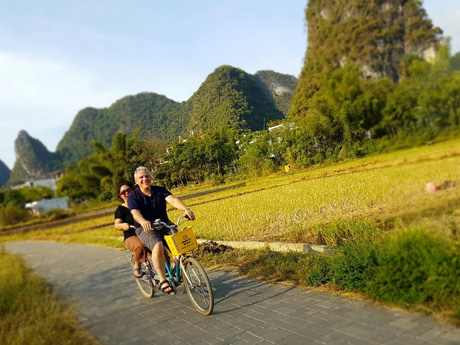 Cycling at Yangshuo Countryside