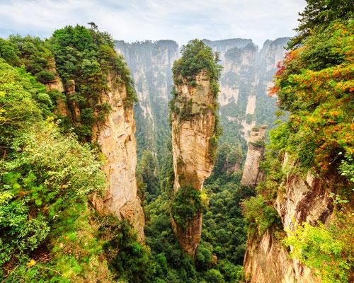 the Peaks in Zhangjiajie