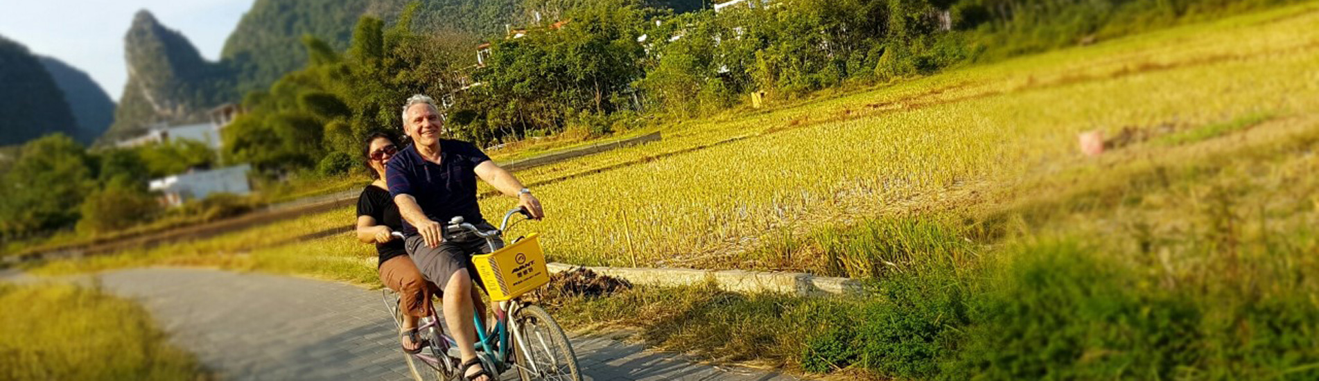 Biking at the countryside of Yangshuo