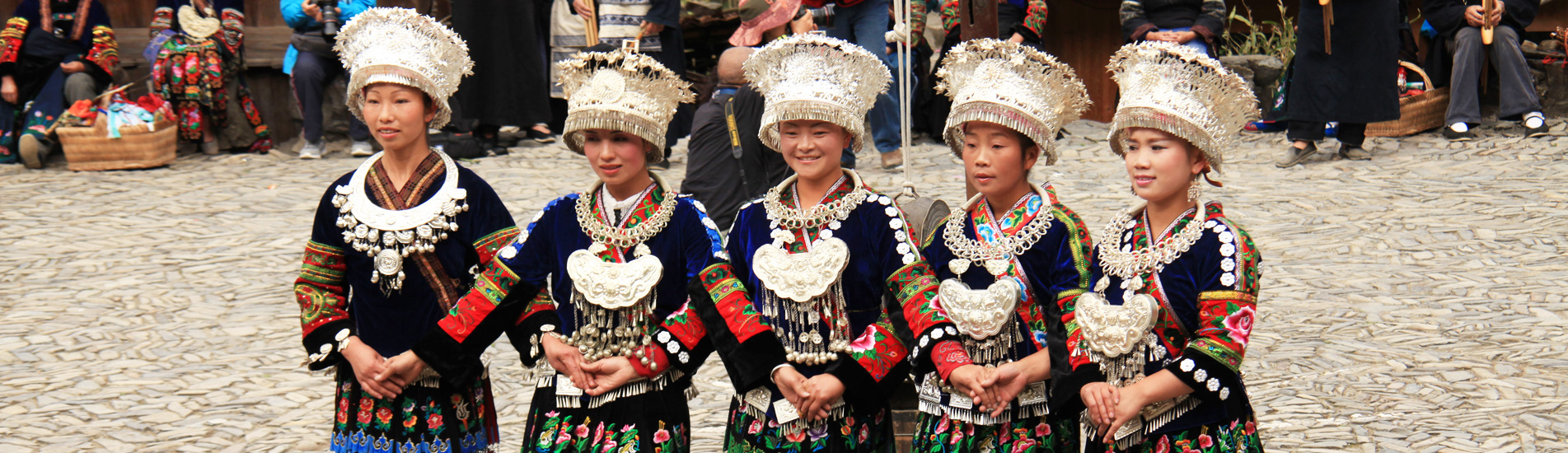 Chinese minority group festival in Guizhou Province