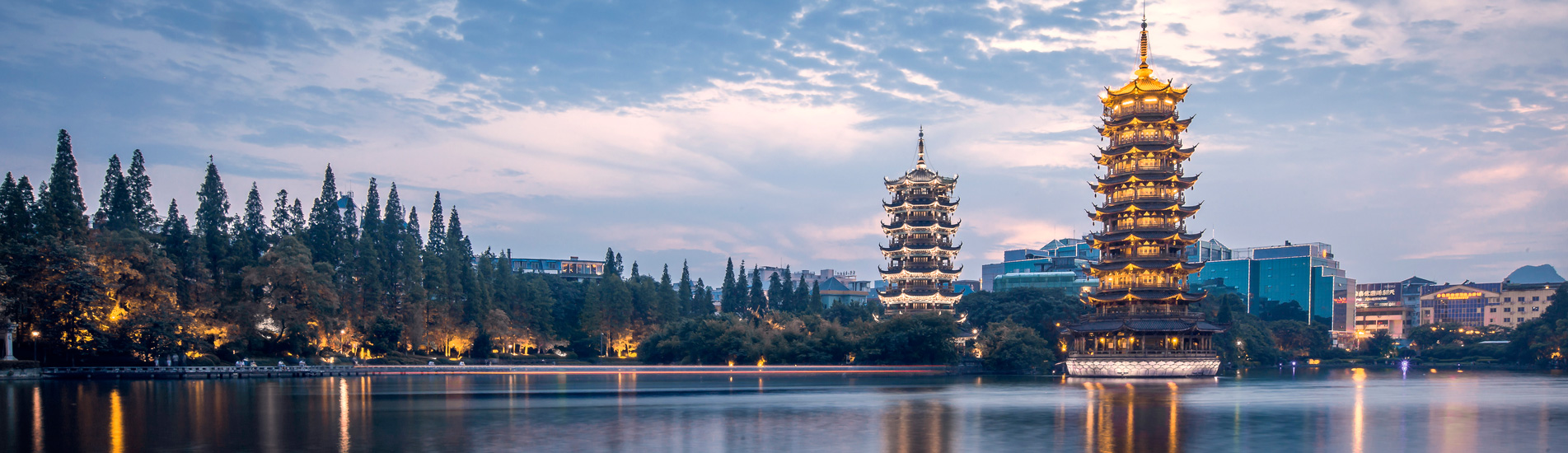 Two pagodas in Guilin