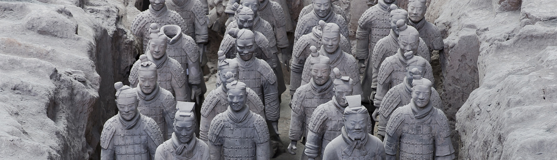 the grand Terracotta Warriors in Xian