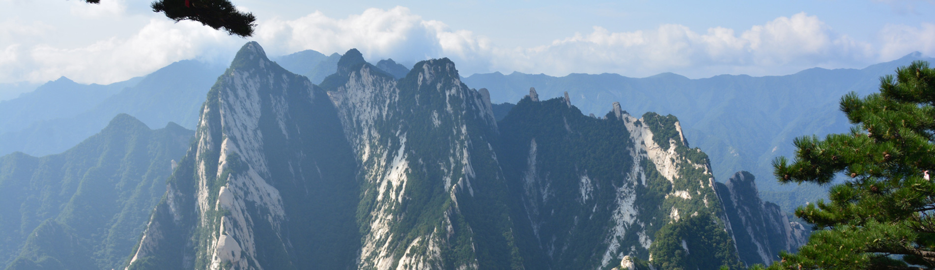 the beautiful Mount Hua in Xian