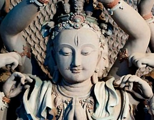 Statue at Mogao Grottoes