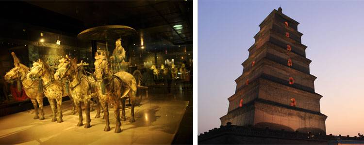 The Terracotta Army and the Big Goose Pagoda