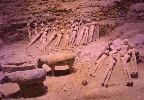 The ruin of the Terracotta Army