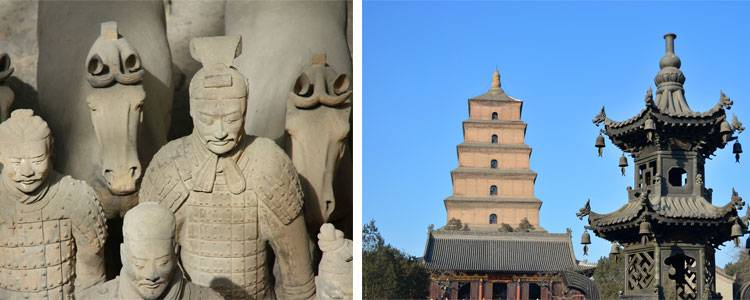 The Big Goose Pagoda and the Terracotta Army