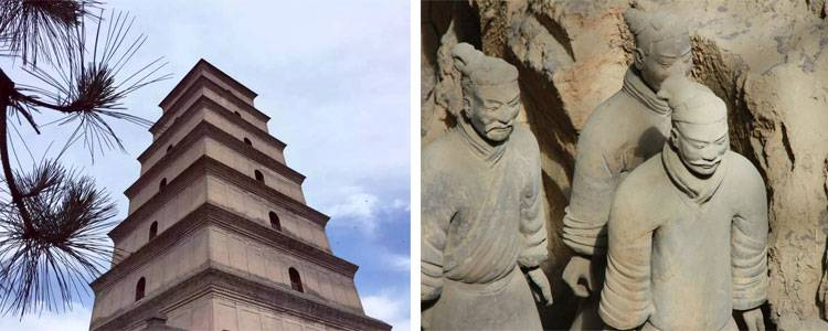 Big Goose Pagoda and the Terracotta Army