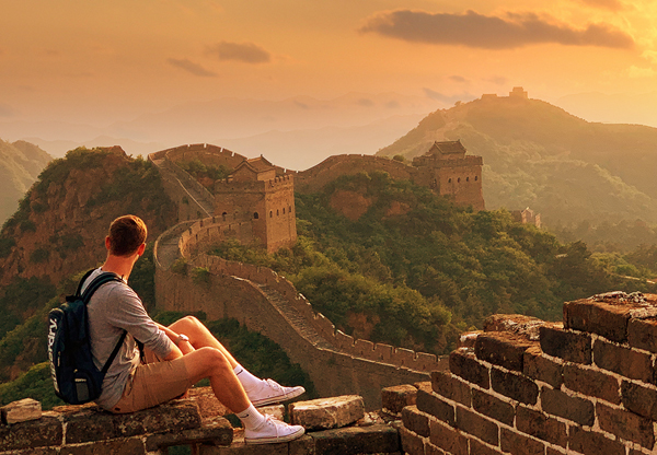 the Great Wall hiking