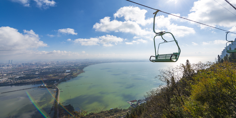 Take a chairlift to the Dragon Gate