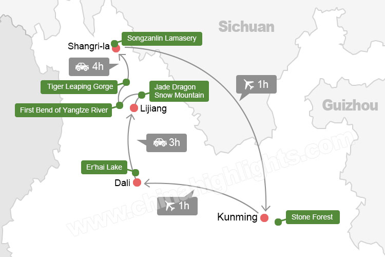 Map of yunnan