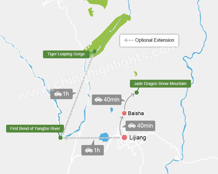 Map of Lijiang