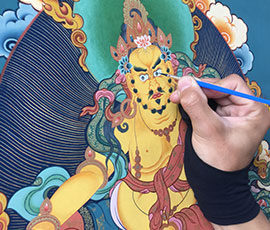 Learn to paint a Thangka