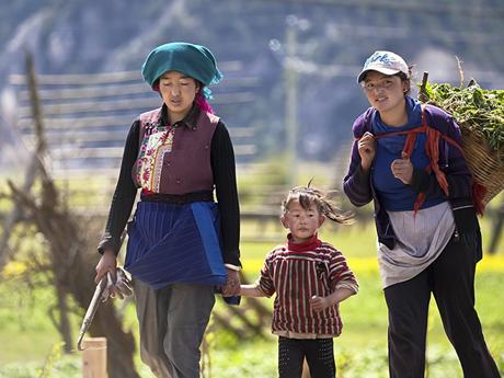 Les villageois tibétains