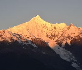 sunlight on Meili Snow Mountain