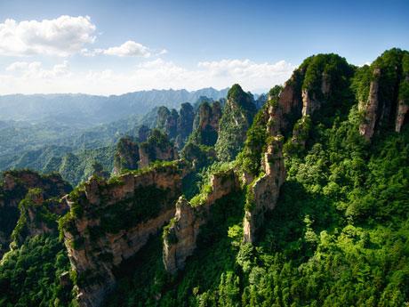 the Natural Great Wall at Yuanjiajie