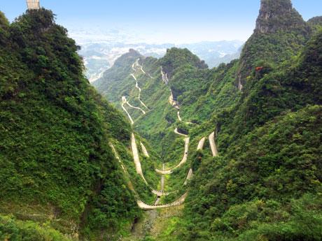 bends of Tianmen Mountain