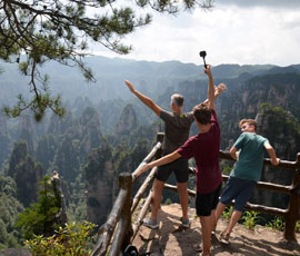 Enjoy the amazing view of the Zhangjiajie National Park