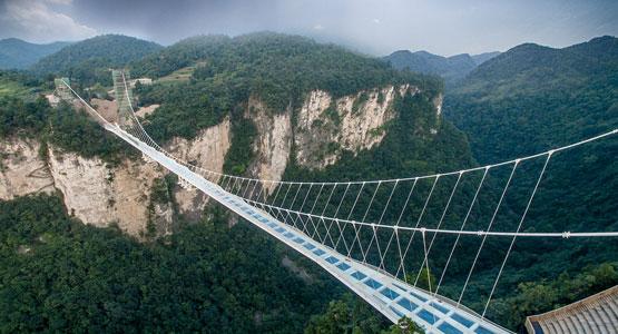 Challenge yourself at Zhangjiajie Glass Bridge