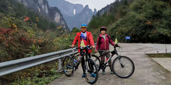 biking in Zhangjiajie