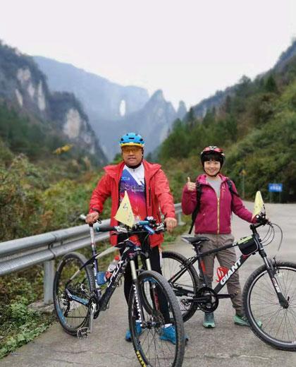 Biking at Zhangjiajie