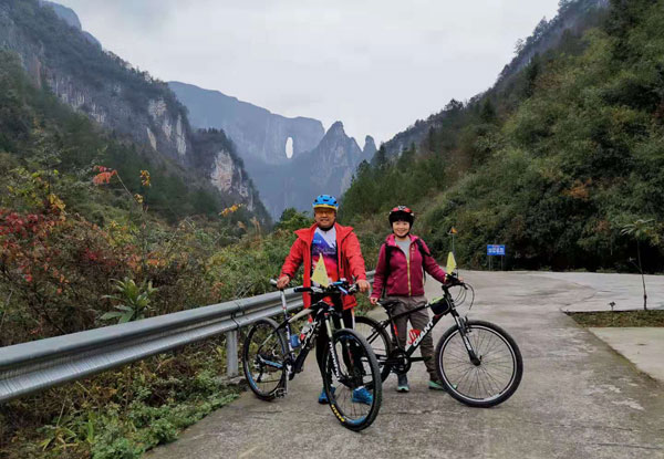 biking at Zhangjiajie