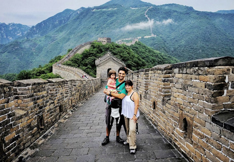 Great Wall hiking in China