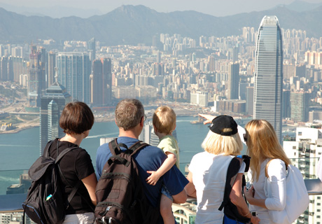 Family trip to Hong Kong, the Victoria Peak