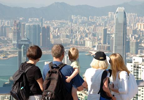Family trip to Hong Kong, the Victoria Peak