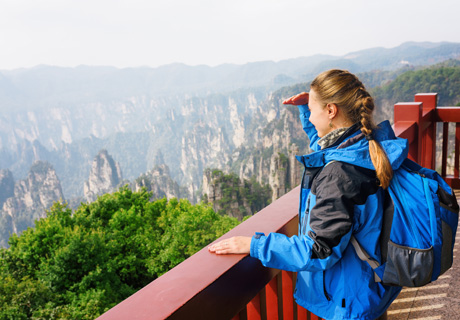 the mountains in Zhangjiajie