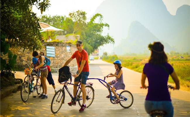 Cycling in Yangshuo Countryside