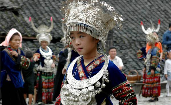 Miao Girl in Basha Village