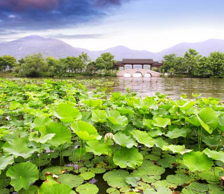 The West Lake in Hangzhou