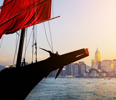 The Victoria Harbour in Hong Kong