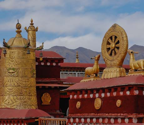 The Tibetan monasteries in Tibet