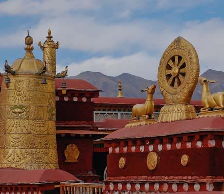 The Tibetan monasteries in Tibet