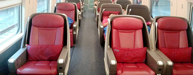 Business cabin on high-speed train