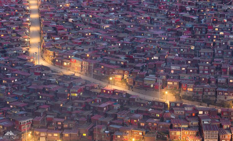 Sunset at Larung Gar
