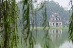 View of the Hoan Kiem Lake in Hanoi