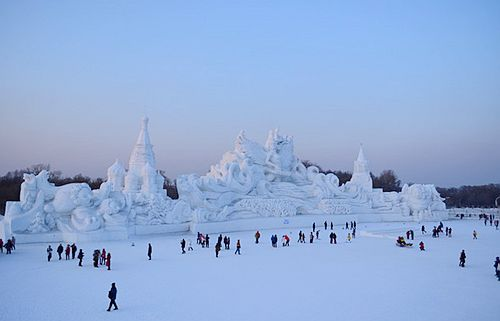 Sun Island Snow Sculptures in Harbin