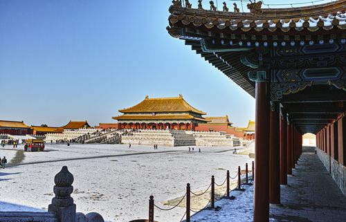 The Forbidden City Covered in Winter Snow