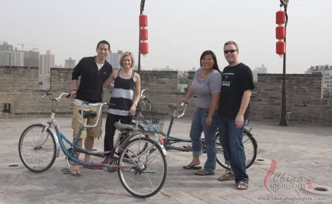 Biking on the Xi'an City Wall